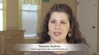 Wells Fargo Teller Whistleblower Guitron On Criminal Fraud, Bullying, Racism  & OSHA Cover-up