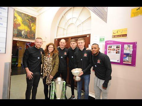 Dundalk FC Visit Temple Street Children's Hospital