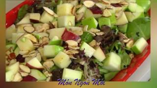 Uyên Thy's Cooking - Gà Nướng Lá Chuối & Salad Táo
