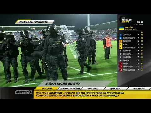Шевченко вмешался в драку фанатов сборной Украины с чешской полицией