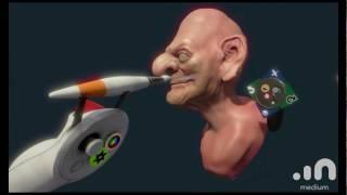 Oculus Medium VR Sculpt: Witch bust
