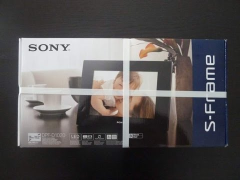 Sony DFP-D1020 Digital Photo Frame Unboxing