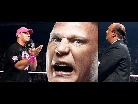 Exclusive Update On John Cena & Paul Heyman's Raw Promo + Cena Vs Lesnar Summerslam News video