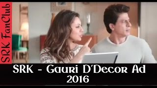 Download Shah Rukh Khan & Gauri Latest D'decor Ad - 2016 ( SRK ) 3Gp Mp4