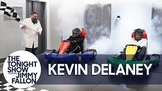 Kevin Delaney Helps Jimmy Fallon Race a CO2-Powered Go-Kart