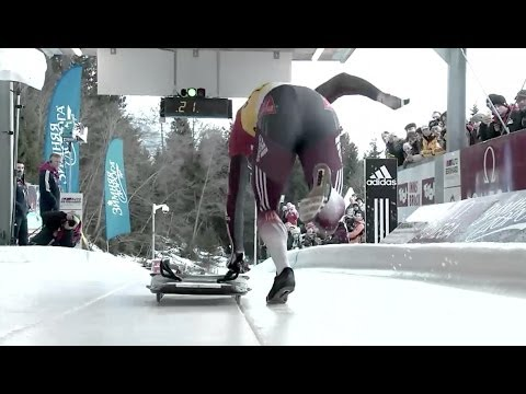 Fibt | Men's Skeleton World Cup 2013 2014 - Igls Heat 1 video