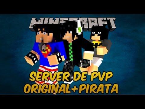 Server de PVP Minecraft ORIGINAL + PIRATA