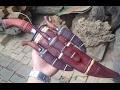 Handmade Knifes| Dao đi rừng Mẹ bồng con Bắc Tây Nguyên, bản siêu đẹp | Công đoạn cuối: Lau dầu