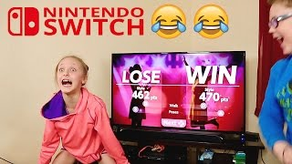BOYS VS GIRLS 1-2-SWITCH! Loser Has To Lick The Game!