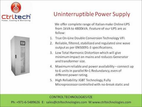 Uninterruptible power supply in Dubai UAE Qatar UPS supplier.wmv