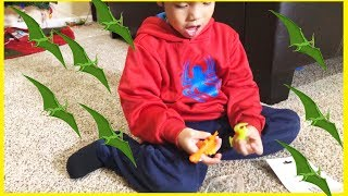 Pretend Play DINOSAUR with Ryan's Toy Review inspired I MAILED MYSELF to Ryan ToysReview and it WORK