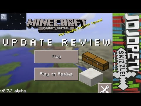 Minecraft Pocket Edition 0.7.3 Update Review (Realms Update) with Bugs iPhone iPod iPad Android