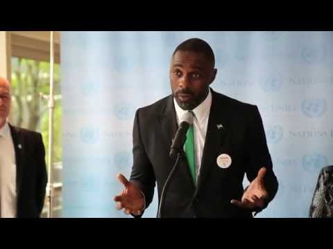 Idris Elba speaks about Ebola crisis at UN Headquarters