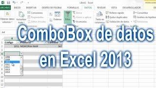 Как в excel сделать combobox