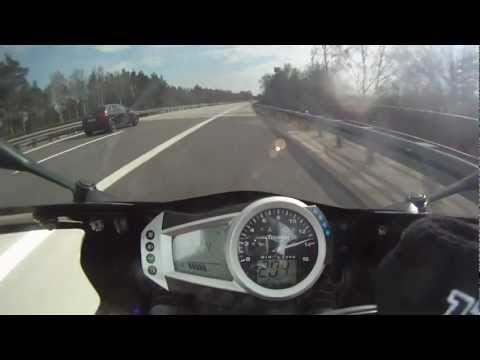 Daytona 675 0-200 km/h in 8,9 sek !!!