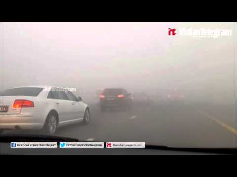 136 Road accidents in dubai on foggy day