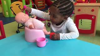 DOLLY Pretend Play with Baby Dolls and Toys for Kids!