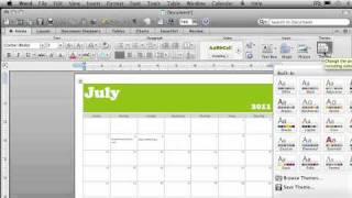 Create a calendar - Word 2011