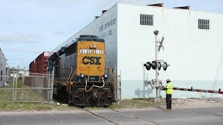 CSX intermodal and CSX transfer run to FEC at Beaver Street Interlocking