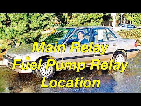 Honda Acura Main / Fuel Pump  Relay Location - Bundys Garage