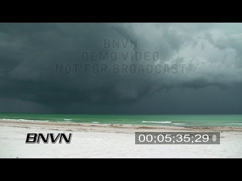 6/8/2007 Siesta Key, FL - Seabreeze Thunderstorm Video