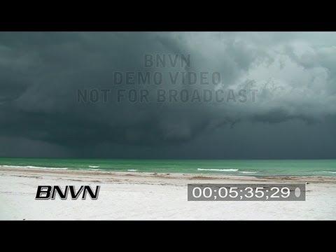 6/8/2007 Siesta Key, FL - Seabreeze Thunderstorm Video