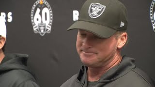 Raiders Coach Gruden Speaks to Media About Antonio Brown