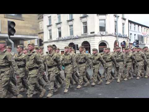 Duke of Lancaster's 1st - Burnley Homecoming Parade 21st May 2013