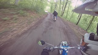 Puch Maxi S | SPRING EDIT | Crash 2x | Forest ride (GEMAFREE)