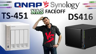 The Synology DS416 vs The QNAP TS-451 - Which NAS is the NAS for you