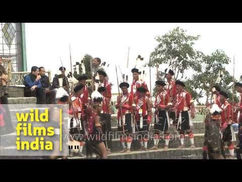 Cultural troupes gather at the main arena - Hornbill Festival