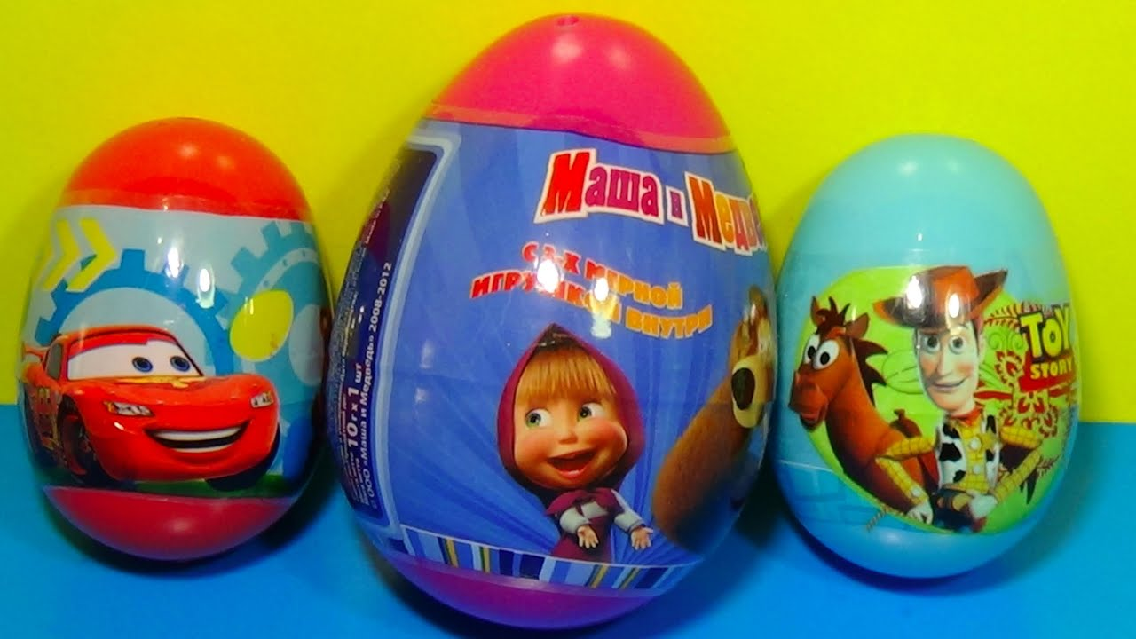 Sticker unboxing - 3 Surprise Eggs Toy Story Cars Youtube