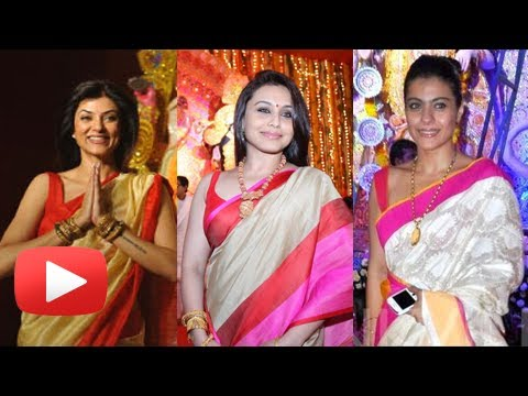Bollywood Stars At Durga Puja 2013 - Bengali Actresses Celebrate...