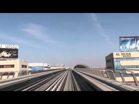 Dubai Metro - Al Rigga Station to Airport Terminal 1 Station HD (2011)