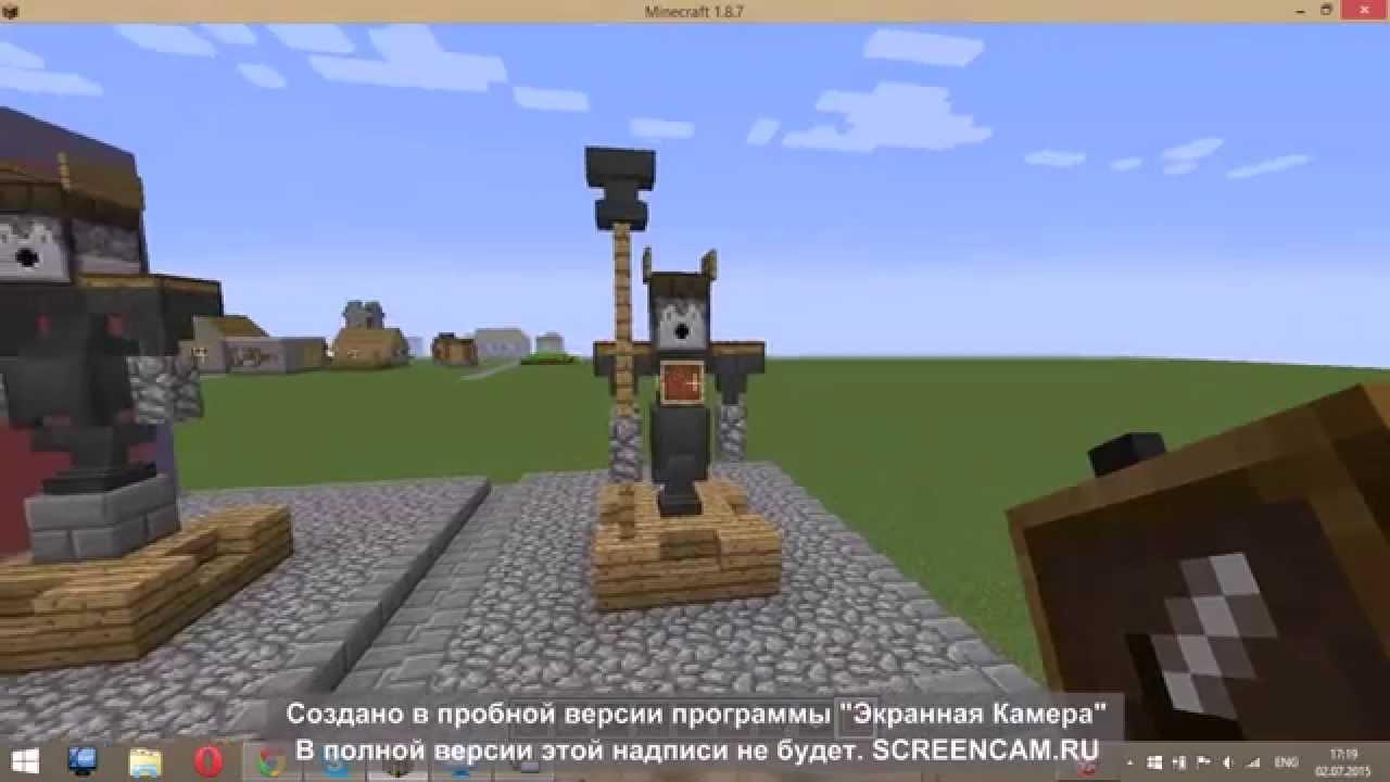 Как сделать статую в Minecraft - YouTube