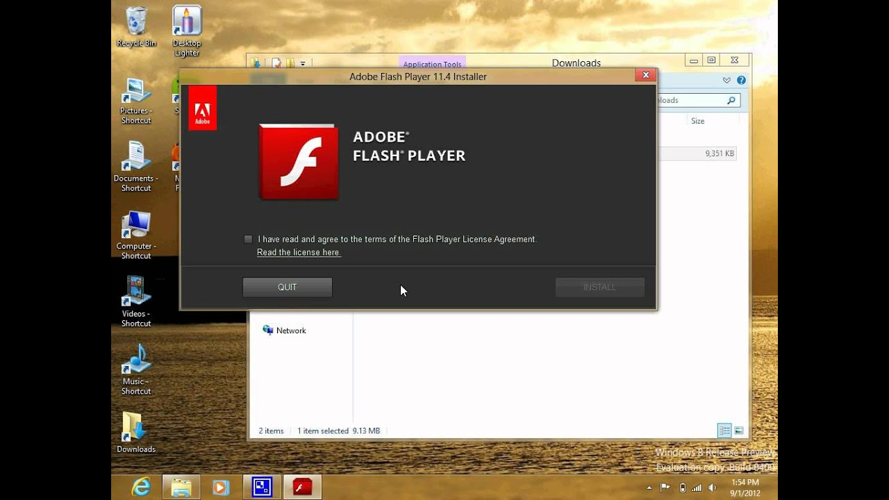 Install adobe flash player on windows 8 release preview Install adobe flash