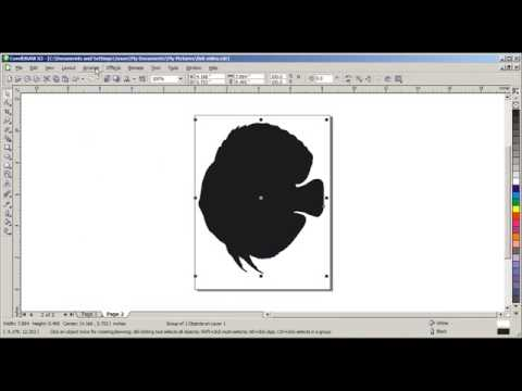 Corel Draw - Creating Cut Line around jpeg