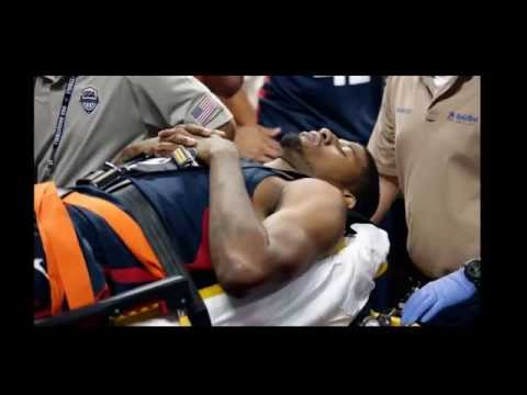 Paul George Suffers Serious Injury; USA Scrimmage Ends Early | Lesión de Paul George INCREIBLE!!!