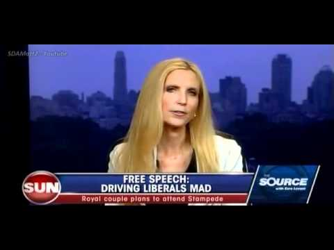 Ann Coulter and Ezra Levant (On Canadian protests against Ann Coulter)