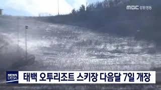 투/부영 오투리조트 스키장 정식개장