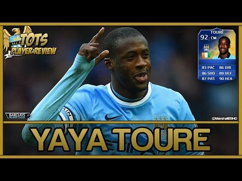FIFA 14 UT - TOTS Yaya Toure || Team Of The Season Ultimate Team 92 Player Review + In Game Stats