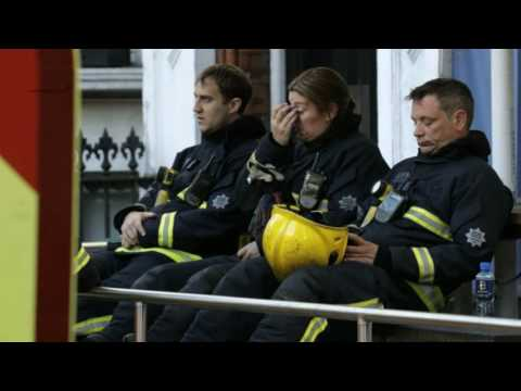 Grenfell Tower: Hero firefighters cry during minute's silence