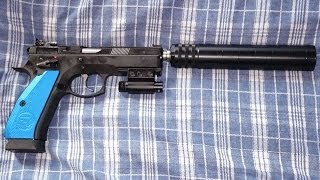 CZ 75 SP-01 Shadow Suppressed with A-TEC PMM-6 Shooting