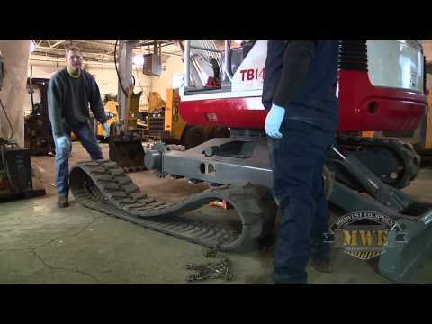 How To Install Replace Mini Excavator Rubber Tracks