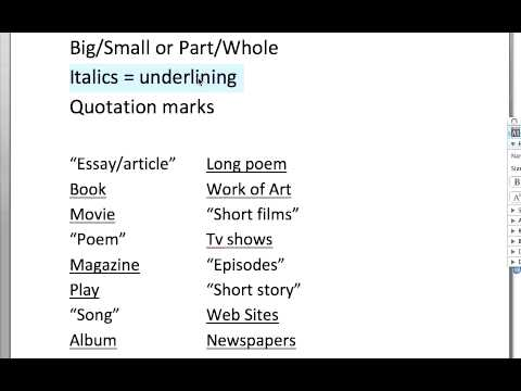 Punctuate titles of essays