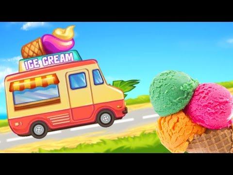 Мультфильм про Машинки.Гонки на пляже. Полиция, фургон с мороженным. Игры для мальчиков.