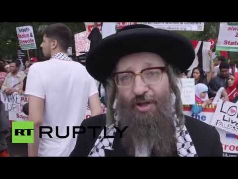 "USA: Protesters ""shame USA"" over support for Israel"
