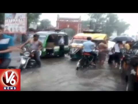 Weather Forecast | Heavy Rains Lash Delhi And Uttar Pradesh | V6 News