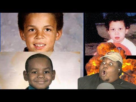 LOL!!  NBA Superstars When They Were Kids REACTION!!!