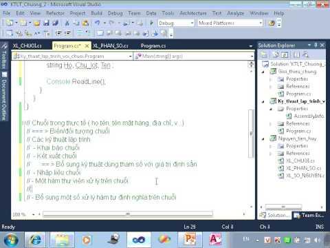 Kỹ thuật lập trình với biến số nguyên